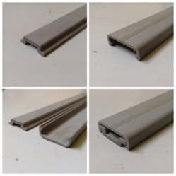 Grey Truck Bus Roofing PVC Profile