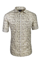 Full Sleeves Mustard Printed Cotton Shirt, Size: S, M & L