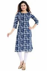 Cold Shoulder Cotton Kurti