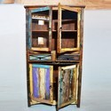Rustica Reclaimed Timber Glass Cabinet, Reclaimed furniture