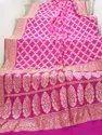 Pink Banarasi Bandhani Saree