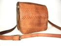 Embossed Leather Satchel Bag