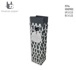 Charming Handmade Black Paper Wine Bag - Off-White Big 'U'