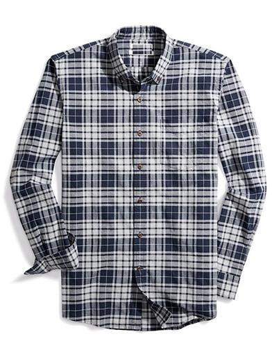 Men S Slim Fit Long Sleeve Plaid Oxford Shirt At Rs 700 Piece