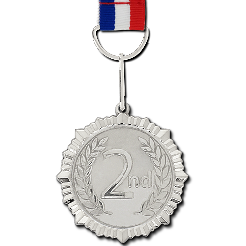 Sliver Silver Medal, Shape: Round, Packaging Type: Poly Pack