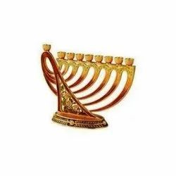 Brass and Aluminium Menorah Channukah