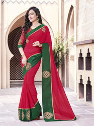 Simple Butta Work Saree