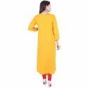 Womens Mustard Anarkali Kurti