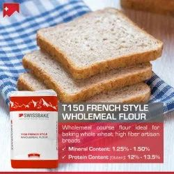 Swissbake T150 French Style Wholemeal Bread Flour, Pack Type: Bag