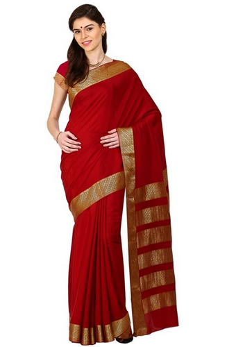 cabaacd099c Kaushika 100% Pure Crepe Mysore Traditional Silk Saree