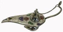Nirmala Handicrafts Brass Antique Aladdin Chirag Multicolor Home And Table Decor Brass Artifact