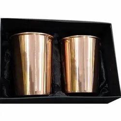 Plain Copper Glass Set, Capacity: 200 mL