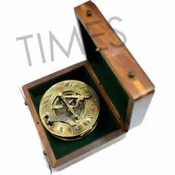 Marine Nautical Compass With Wooden Box