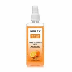 Oriley 2x Action Hand Sanitizer Mist With Orange Extract (500ml)