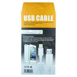 White Iphone 5 Data Cable High Speed Charging