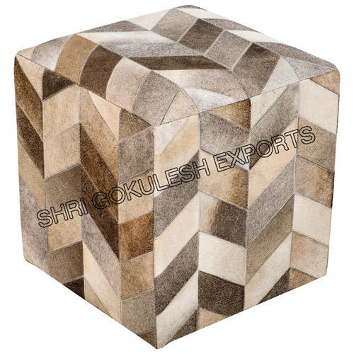 SGE Same As Picture Leather Hide Pouf Shri Gokulesh Exports ID Fascinating Hide Pouf