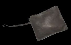 Plain HV Gray Soft Leather Sling Pouch