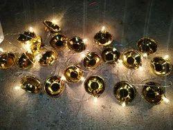 Golden Printed Diwali Electric Gold Diya