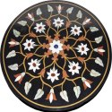 Round Stone Pietra Dura Dining Table Top