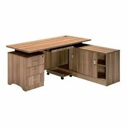 Wooden L Shape Executive Table, For Office