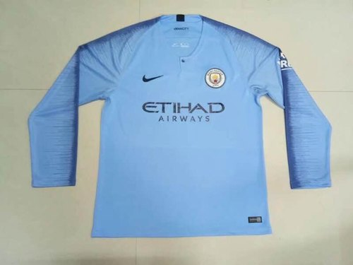 low priced 6cbeb c3608 Full & Half Sleeves 2018/19 Manchester City Home Jersey