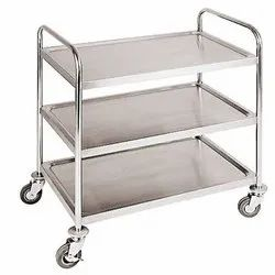 Naman Industries Stainless Steel Service Trolley, For Hotel