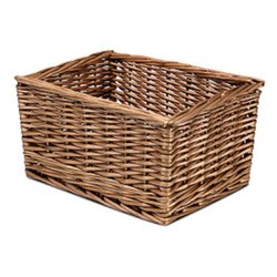 Luxe Natural Used Towel Cane Basket