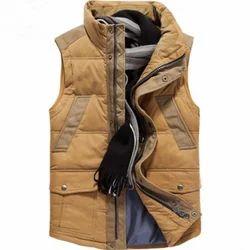 Brown Mens Waist Coat Style Jacket