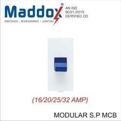 Maddox Single Pole Modular MCB, Model No.: 909MADDOX