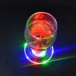 LED Bottle Light With Adhesive Sticker Colorful Light Mini Cup Coaster/Bottle Sticker