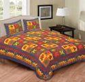 Kantha Jaipuri Print Bed Sheet