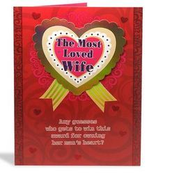 Most Loved Wife Award Greeting Card