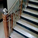 Stainless Steel Wooden Baluster Railings, For Home, Mounting Type: Floor