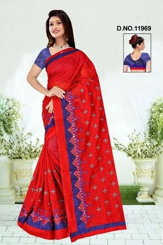 5d49d1f4f6 CHANDERI COTTON SAREES, 5.5 M (separate Blouse Piece), Rs 549 /piece ...