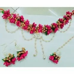 Pink Polans Flower Jewelry