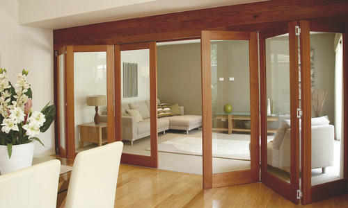 Wooden Wood Stacking/Folding Doors Systems, Stainless Steel