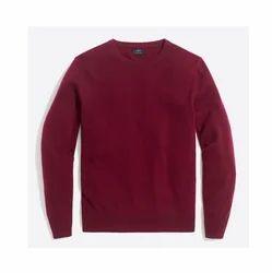 Maroon Mens Woollen Sweater