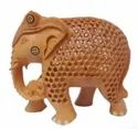 Home Wooden Jali Elephant