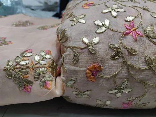 5 - 6 Color Pure Upada Upada Plus Chinon Embroidery Fabric
