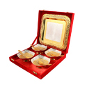 Square Silver & Gold Plated Bowl Set