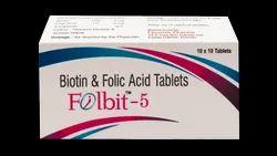 Folic Acid 5mg, Biotin 5mg ( Folbit - 5 Tab)