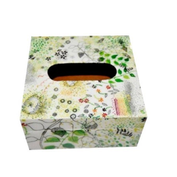 Pink-Knots MDF Printed Tissue Boxes