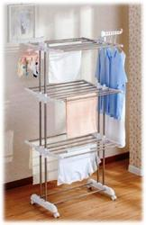Stainless Steel Heavy Duty Double Pole Cloth Drying Stand