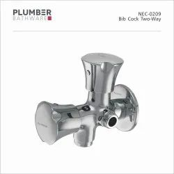 Plumber Wall Mounted NEC-0209 Two-Way Bib Cock, For Bathroom Fittings