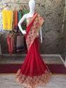 Designer Marble Chiffon Saree