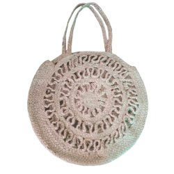 Vintage Hand Made Jute Shopping Bag Personalized Luxury Handbags