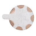 Round White Marble Cutting Board