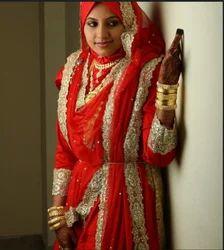 Red Muslim Bride Wear