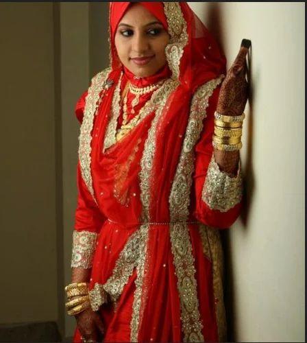 Red Muslim Bride Wear, Aham Designer Boutique