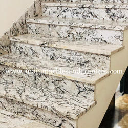 Ice Blue White Granite Steps Stairs